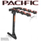Pacific Tilt Square Hitch 4 Bike Rack - 50mm Hitch